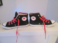 GIRLS CONVERSE HI TOPS - SIZES 13, 1 (DOUBLE TONGUE) AND 2 - FROM £3.50
