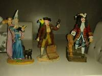 3 royal doulton resin figurines