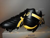 Asics Mens Lethal Scrum Rugby Boots Black & Yellow 9 UK