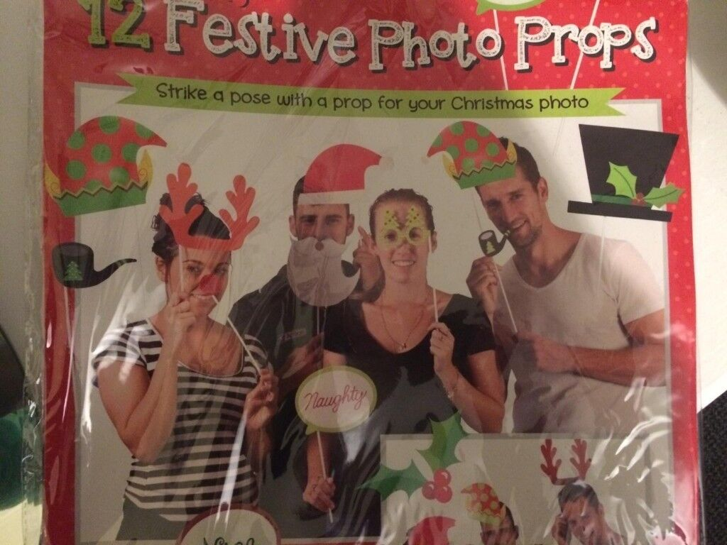 Christmas New Year Party Photo Booth Props New X2 Packs Fun