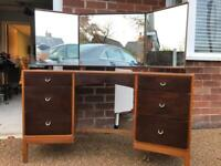 Stag furniture - dressing table & single bed headboard