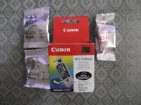 Original Canon BCI-11 black and colour printer ink cartridges - new and sealed