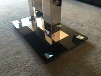 Coffee table - black glass coffee table