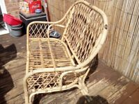bamboo two seater garden settee.