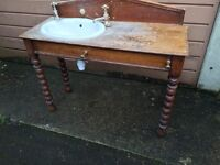 Sink in wash stand