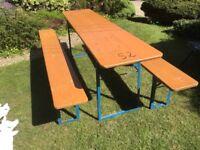 German beer Keller table & bench set