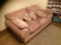 2 x 2 seater fabric sofas