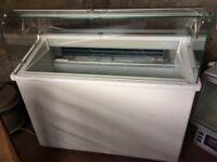 France slant 7e display freezer