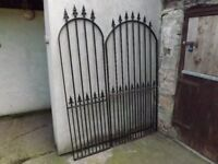 2 good quality metal garden gates. £90 the pair.