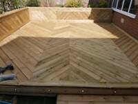 Garden Decking, removal and construction