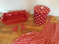 Red spotty kitchen accessories
