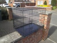 dog cage in vgc