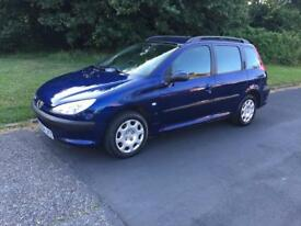 Peugeot 206 estate 1.4 petrol