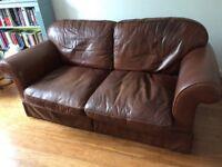 Leather sofa Laura Ashley
