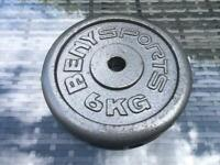 Beny sports 6kg weight plate £10.00 good for sit-ups