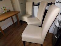 Large imitation leather fabric kitchen chairs