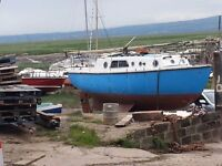25 ft Colvic sailer, with 20 hp VOLVO Diesel engine, needs work and TLC to commission good project