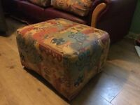 2 identical 3 seater sofa couch and footstool