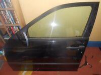 BMW E46 PASSENGER SIDE FRONT DOOR IN BLACK