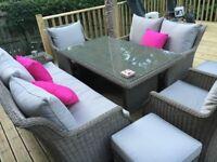 Bramble crest Oakridge Garden furniture - like new, selling due to emigrating to Australia