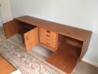 G plan 1960's sideboard, dining table and chairs