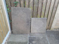 2 x weathered riven textured natural stone