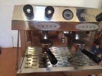 FRACINO 2 GROUP ESPRESSO COFFEE MACHINE + GRINDER!! £450