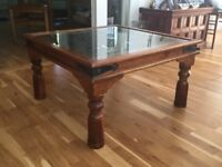 Stunning wrought iron and glass table