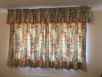 """Pencil Pleat Curtains (4' 5"""" drop) with Pencil Pleat Pelmet Curtain – Collect Only"""