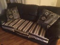 Used Navy Blue Leather Couch