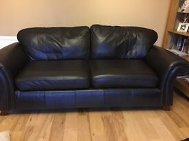 Brown leather large sofa (from Next) - approx 200cm long