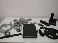 Nintendo Wii Console, Black with accessories