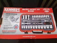 "METRIC SOCKET SET 30PC 1/2"" SQ DR Brand New"