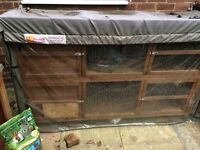 Rabbit / Guinea Pig hutch with Cover and Extras
