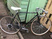 Vintage Raleigh pursuit gents racing bike 10 speed 21 inch frame 27 inch wheels