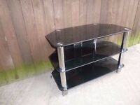Black Glass tv Stand Delivery Available
