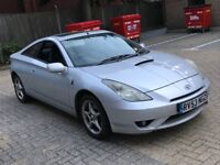 2003 TOYOTA CELICA 1.8 VVTI COUPE PETROL MANUAL 4 SEAT LEATHERS NEWER SHAPE MOT SILVER SPORTS N MR2