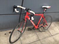 Carrera Zelos bike, Kryptonite bike lock, floor pump, assorted lights & accessories