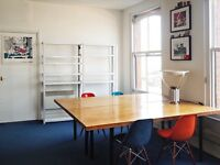 Large desk space to rent in a bright shared office | EC1A