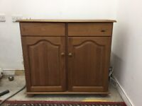 Cupboard with drawers and shelving area
