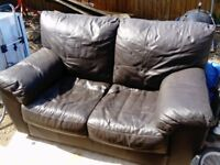 leather 2 seat sofa in good condition, no tears, just needs a bit of polish