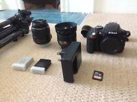 Nikon D3300 Bundle - 18-55mm lens - 35mm lens - 2x Battery - Trip-Pod - X-Grip - Camera Bag