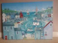 Seaside canvas picture