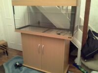 Jewel Fish Tank & Cabinet