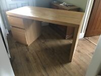 Desk with two draws