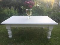Shabby Chic Cream Solid Pine Coffee Table