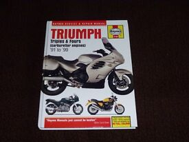 Haynes Triumph Triples and Fours Service and repair manual and DK Motorbike Book