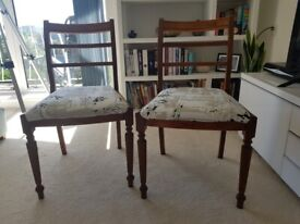 Pair of wooden dining chairs