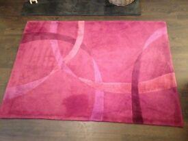 Rug Purple Dunelm modern Great Condition