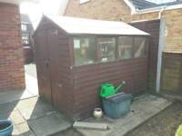 8 x 6 lap garden shed with base